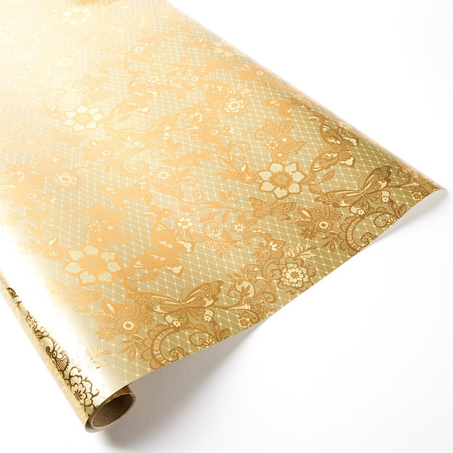 metallic wrapping paper All metallic tissue can be cut or folded to any size or count also available in resale tissue packs with sheet counts of 8, 12, 18 or 24 call or email us for pricing and details.
