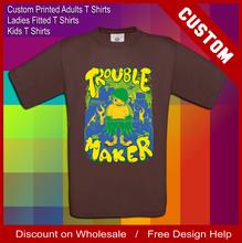 men's brown made to order printed t shirts