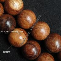 Dyed Wood Beads Round brown 10mm Hole:Approx 2mm Sold By PC