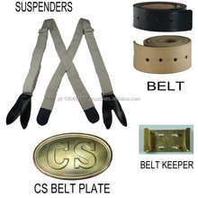 Suspenders Leather Waist Belt and CS Belt Plate complete your Uniform Special