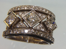 Diamond ring in 18 karats gold