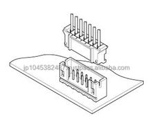 Precise plastic 2 position circuit connector for high density cable board