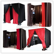 Aluminum and portable pipe and drape stands for photo booth props