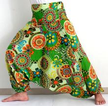 floral al por mayor diseña harén pantalones pantalones harén-Boho algodón hippie harem de algodón yoga -Indian