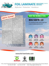 Fire retardant double sided air bubble aluminium foil