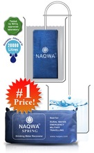 NAQWA Survival Emergency Soldie Rural Camping Safe Water Filter Purifier Lightest 0 Power 50L/d 65g