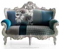 Antique Style Blue double siter sofa