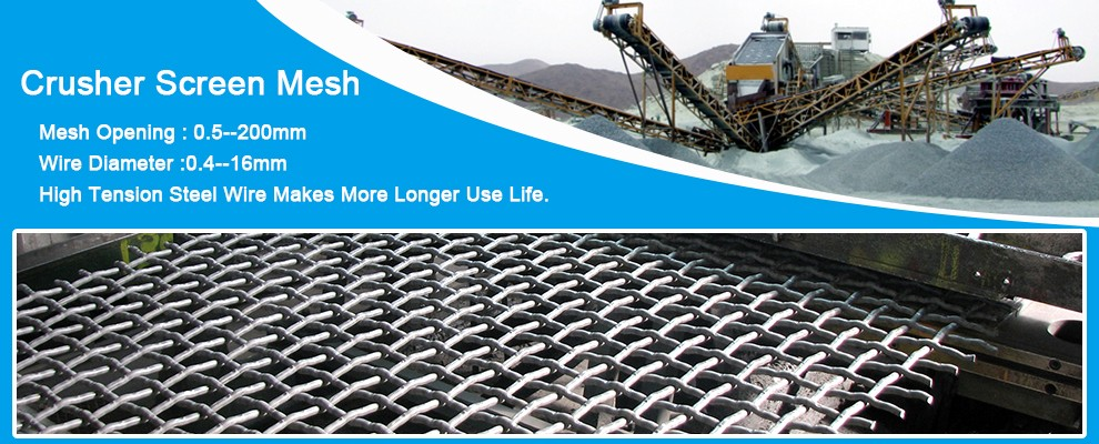 High Carbon Steel Wire Self-cleaning Mesh For Limestone Crusher ...