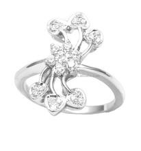 925 Sterling Silver Rings In White Zircon Wholesale Jewelry