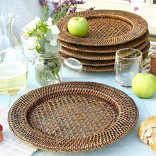 Hot sales Bamboo Rattan Charger Plate