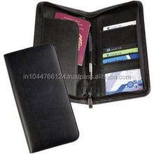 High Quality Mens Genuine Leather Travel Wallet