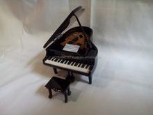 Miniature Piano Dolls House Partiture Chair - Borneo Wood Kalimantan Black Color Handmade