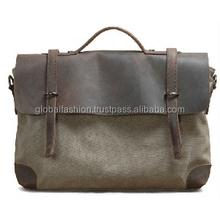 2015 wholesale mens canvas leather messenger bag/alibaba messenger bag leather canvas messenger bags