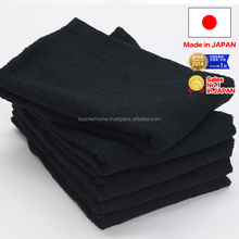 High quality black fingertip towel at low price made in Japan