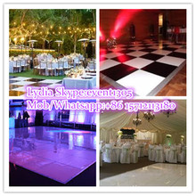 2015 top quality gloss white dance floor for wedding party
