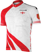 Red and white cycling shirts for mens custom made design 2016