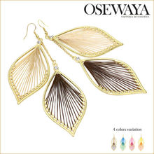 latest trends gift items, trendy leaf design fashion earring