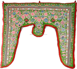 Authentic Door Valance Ethnic Tribal Door Valance Embroidered Kutch Wall Hanging