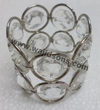 Glass shape shiny crystal votive for valentine's day decoration