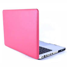 "Leather Coated PC Cover Case for macbook white 13.3"" with 5 colors"