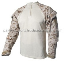 Camouflage Tactical Shirt With Side Pockets