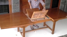 exclusive extandable dining table with modern wood