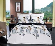 full luxury wedding bedspread middile east taste romantic gold color bed sheet/duvet cover