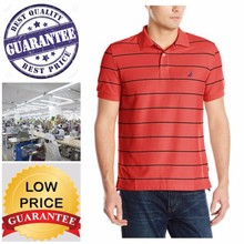 strip polo shirt/16 compliance factories / BANGLADESH manufacturing cost is lowest in ASIA