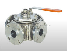 Hand Lever & Gear Operated 3 Way & 4 Way Ball Valve