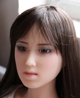 Little Girl Asian Look Real Lifelike Full Solid Silicone Sex Doll / Love Doll Sexpuppe In-built Skeleton 110cm Adult Men Sex Toy
