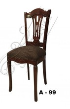 carved back wooden dining chair