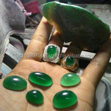 Rough Stone Material Hijau Caringin clear green chalcedony crystal from Garut Indonesia Grade A++