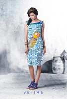 2015 Beautiful western kurti / Wholesaler Surat India/ Bollywood Fashion Western Style Ladies Short Kurti / Top