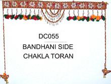 Bandhni and sparrow Handmade Kodi work wall hanging -Wholesale Decorative Handicrafts Toran Unique design High quality