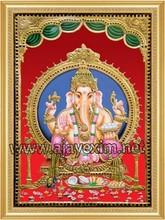 Lord Vinayaga - Tanjore Painting Poster