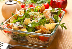 Low fat modified starch for salads