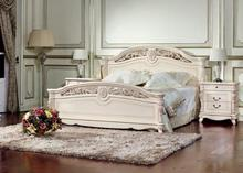 Afina bedroom white with pearl finish (bed 1,6+ 2 night stands+dresser w/mirror+4-doors warderobe)