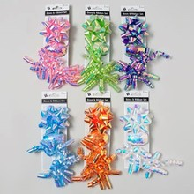 BOW SPIKE/CURLY/EGG 6AST NEON COLORS/BACKER CARD #G24782