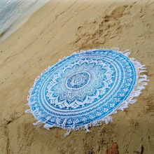 """72"""" Ombre Roundie Tapestry Hippie Yoga Mat Tapestries Mandala Beach Throw Blanket Round With Tassels Wholesale Supplier Tabl"""