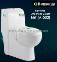 Siphonic One Piece closet - One Piece Toilet - Siphon Flushing - Sanitary ware - Toilet - A- 502
