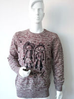MEN'S 90% ACRYLIC 10% WOOL KNITTED PULLOVER