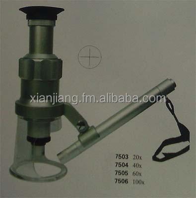 Микроскоп 60-100x с подсветкой, Увеличить