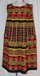 Very wholesale price new styles vintage dress, hippie style, indian print dress, sleeveless, festival dress, border print dress