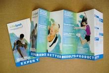 Full colour folded leaflets printing