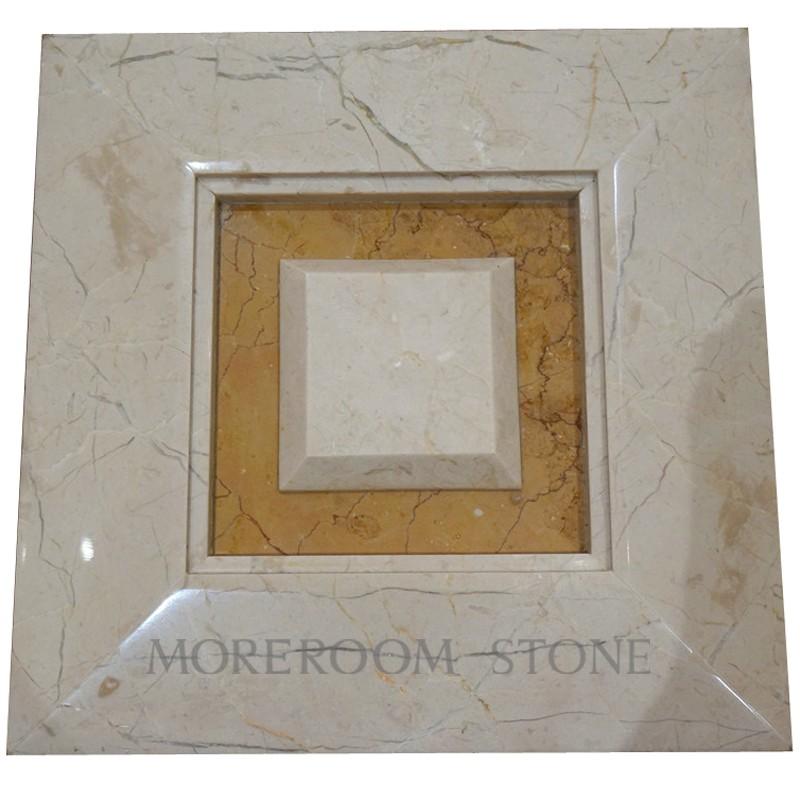 Iran Beige Marble Shayan Cream Marble Tile Amarillo Oro Yellow Marble 3D Wall Panel CNC Wall Panels Wall Tiles Moreroom Stone.jpg