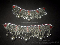 tribal nomad anklets best bellydance performance footwear online kuchi women long anklets for wholesale deal