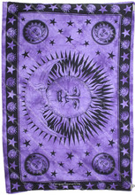 """Sun & Moon Tapestry Amethyst Violet Purple Tapestry Curtains Tapestry Wall Hangings Twin Small Size 54"""" X 85"""""""
