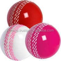 High Quality Red White Pink Cricket Ball for Clubs for Schools and Individual Users