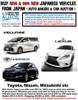 JAPANESE CARS - NEW & 99% NEW - LEXUS, VELLFIRE, HARRIER etc