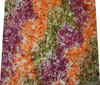 Orange Fabric Cotton Rayon Tie Dyed Crafting Drape Dress Pillow By The Yard FBC1262